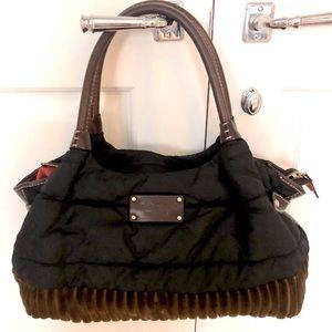 KATE SPADE Nylon, Leather and Corduroy Puffer Bag